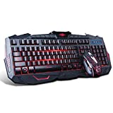 Marvo Wired Keyboard and Mouse Combo with LED Backlit (KM400)