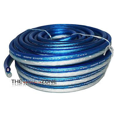 Bullz Audio Bps10.50Pb Blue & Silver 10 Gauge 50 Feet Speaker Wire For Home/Car