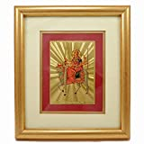 Silvesto India 24 KT Gold Foil MAA DURGA Photo Frame US - 8176