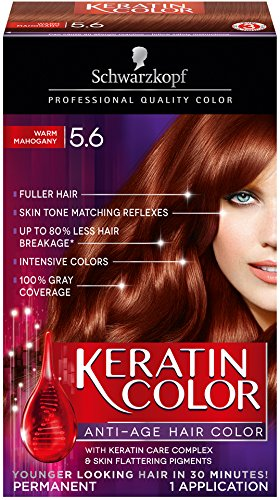 Schwarzkopf Keratin Hair Color, Warm Mahogany 5.6, 2.03 Ounce (Red Mahogany Dye compare prices)
