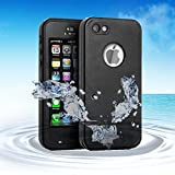 Merit Waterproof Kickstand Case with with Built-in Screen Protector for Apple iPod Touch 5/ 6 - Black