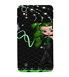 PrintVisa Cute Animated Girl Butterfly 3D Hard Polycarbonate Designer Back Case Cover for LG X Power