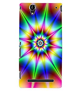 ColourCraft Colour Abstract Design Back Case Cover for SONY XPERIA T2 ULTRA