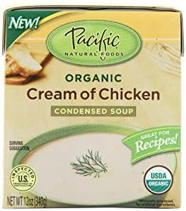 Pacific Natural Foods Organic Cream Of Chicken Condensed Soup, 12-Ounce Boxes (Pack of 12)