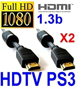 2 HDMI Cables + HDMI Cable Splitter Adapter (1 Input Male to 2 Output Female) for PC's, Gaming Consoles, HD TVs, and MANY Other Devices
