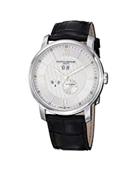 Baume Mercier Men's 10038 Classima Mens Black Leather Strap Annual Calendar Watch