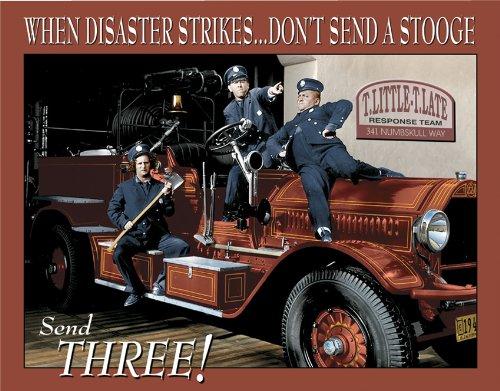 Tin Sign Stooges Fire Dept.