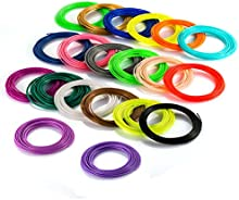 3D Pen Filamento, DIKI 20Pcs 1.75Mm Recargas de Filamentos PLA para Plumas Lapiz Inteligente 3D Rapid Prototyping Pen no hay olor peculiar (16 Colores y 4 Colores del resplandor, 340 Pies 100M).