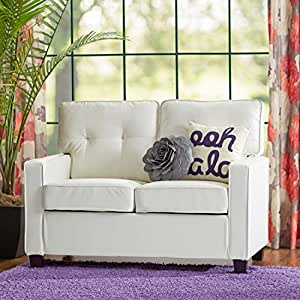 Living Room Furniture Loveseat High Density Faux Leather Foam