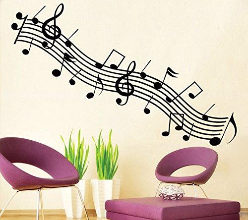 ufengke-Mode-Musik-Serie-Schwarz-Rhythmus-und-Schwarzen-Noten-WandstickerWohnzimmer-Schlafzimmer-Entfernbare-Wandtattoos-Wandbilder