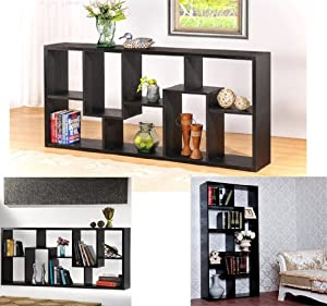 Homcom 71 X 32 Staggered Wood Display Shelf Bookcase