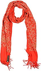 Evergreen Women's Stole (866_76, Red)