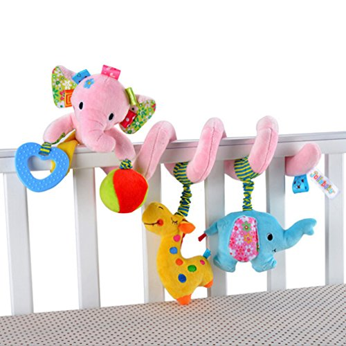 Pink-Elepant-Baby-Activity-Spiral-Stroller-Toy-Car-Seat-Toy-Bed-Hanging-Toys
