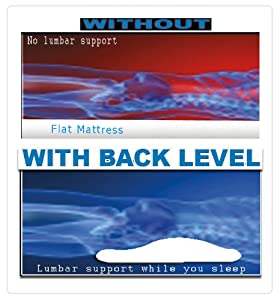 Back Level Tm Back Pillow. Back Support While You Sleep, Design Bridges the Vacuum Between the Flat Surface of the Bed and Your Spine, Giving You More Comfort, and Support While You Sleep Thus, Reducing Your Overall Back Pains.
