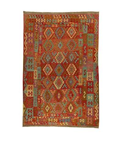 Design Community By Loomier Alfombra Kelim Kaudani Big Rojo/Multicolor