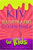 img - for KJV Illustrated Study Bible for Kids, Pink LeatherTouch book / textbook / text book