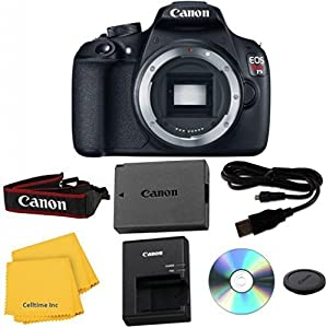 Canon EOS Rebel T5 Digital SLR Camera Celltime Exclusive Bundle + 7pc Accessory Kit - International Version