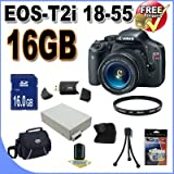 51BpYcQ2 iL. SL160  Top 10 Digital SLR Camera Bundles for February 12th 2012   Featuring : #4: Canon EOS Rebel T3i 18 MP CMOS Digital SLR Camera and DIGIC 4 Imaging with EF S 18 55mm f/3.5 5.6 IS Lens &amp; Canon 55 250IS Lens + 58mm 2x Telephoto lens + 58mm Wide Angle Lens (4 Lens Kit!!!!!!) W/32GB SDHC Memory+ Battery Grip + 2 Extra Batteries + Charger + 3 Piece Filter Kit + UV Filter + Full Size Tripod + Case +Accessory Kit