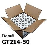 (50) Thermal Paper Rolls 2-1/4 X 50 Verifone Vx520 First Data FD400 Nurit 8000 8020 STP-103
