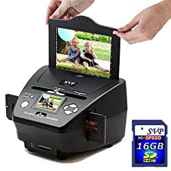 NEW! PS9700(16GB SDHC included)3-in-1 Digital Photo/Negative Films/Slides Scanner with built-in 2.4 LCD Screen with FREE 16GB SD Memory Card