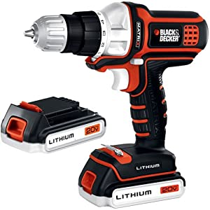 Black & Decker BDCDMT120-2 20-volt Matrix Drill with 2 Batteries