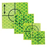 Yellow Reflective Retro Targets - Size: 40 x 40mm (50 Pack)