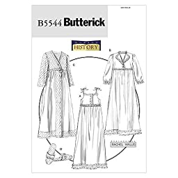Butterick Patterns B5544 Misses\' Nightgown, Robe and Slippers, Size Y (XSM-SML-MED) by BUTTERICK PATTERNS