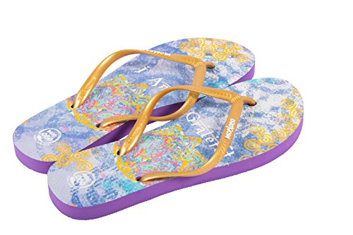 Moeloco I Am Grateful Inspirational Flip Flops - Size 5 (Thong Sandal With Web Detail compare prices)