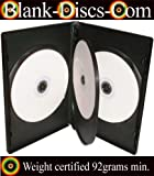 DVD-CASES Lot de 5 boîtiers de DVD en polypropylène 4 emplacements Noir 14mm 92 g