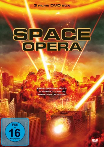 Space Opera - 3 Filme Science Fiction Box (Krieg der Welten 2, Supernova 2012, Princess of Mars) [DVD]