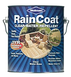 WOLMANTM RainCoat® Clear Water Repellent for Exterior Wood & Wooden Decks