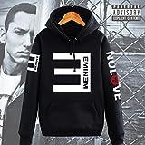 【ドリーム ショップ】Eminem演出服 エミネム/RAP反Eパーカー フード付き/カップルお揃いジャージ/パーカー 応援服 ヒップホップ /4色入り/秋冬 防寒 男女兼用ペアルック トレーナー HOODY (3XLサイズ, ブラック) [並行輸入品]