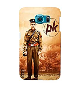 Omnam Amir Khan Standing In Police Dress Pk Posture Designer Back Cover Case For Samsung Galaxy S6 EDGE