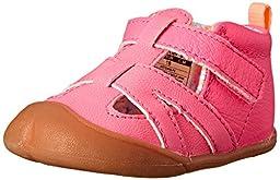 Carter\'s Every Step Artemis Stage 1 Crawl Walking Sandal (Infant), Neon Pink, 3 M US Infant