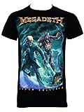 Officially Licensed Megadeth Vic Canister Men's Black T-Shirt