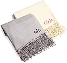 Cathy39s Concepts Mr and Mrs Throws Set of 2