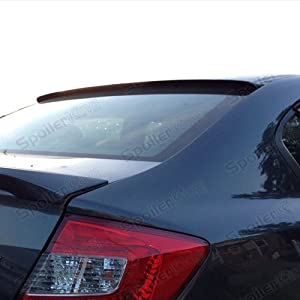 : Honda Civic 4dr Rear Window Roof Spoiler (700814235673): Automotive