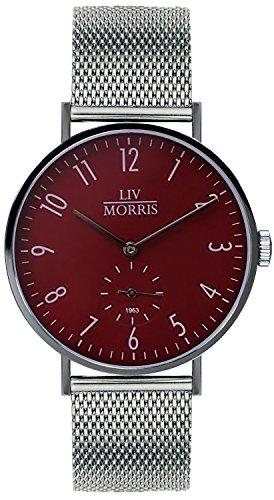 LIV MORRIS 1963 Modell HYPERION MESH im Bauhaus-Stil gehaltene Herrenuhr Ø 41mm feine Automatikuhr 316L Edelstahlgehäuse Mesharmband Saphirglas mechanisches SeaGull-Automatik-Uhrwerk