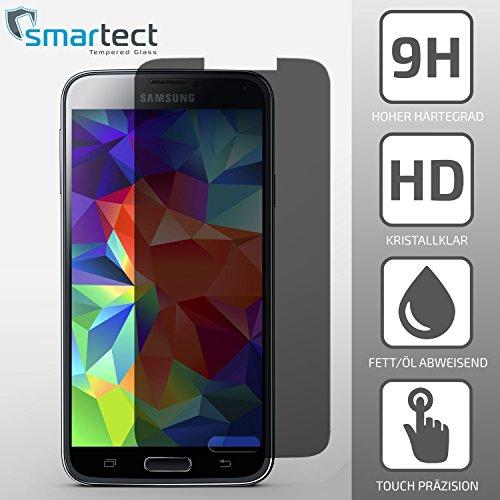 Sichtschutz-SmarTect-Samsung-Galaxy-S5-Premium-Panzerglas-Display-Schutzfolie-aus-gehrtetem-Tempered-Glass-Gorilla-Glas-mit-Hrtegrad-9H-Panzerfolie-Top-Schutzglas-gegen-Kratzer