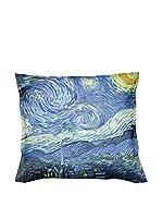 ARTE E TESSUTI by MANIFATTURE COTONIERE Cojín Con Relleno Extraíble Van Gogh-Notte Stellata Azul/Multicolor
