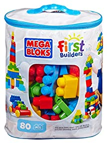 Mega Bloks First Builders Big Building Bag 80-Piece (Classic)