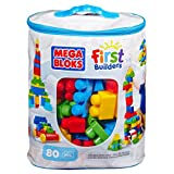 Play, store and take it with you wherever you go! The 80 piece Maxi Blocks Classic Bag by Mega Bloks includes 80 big building blocks! It is the perfect toy for your little building fan who is just learning how to build with his own two hands. Give hi...