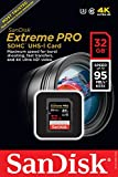 SanDisk Extreme Pro 32GB SDHC UHS-1 Speed Class 3 (U3) With Speed Up To 95MB/s & 4K Ultra HD-Ready, Frustration-Free Packaging- SDSDXPA-032G-AFFP