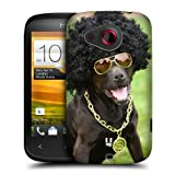 Head Case Designs Dog In Funny Costume Funny Animals Protective Snap-on Hard Back Case Cover for HTC Desire C