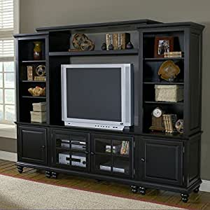 Hillsdale Grand Bay Small Entertainment Wall Unit Warm Brown Home Entertainment