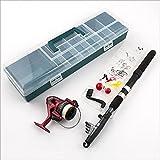 Kit completo set da pesca in valigetta canna da pesca telescopica con accessori set di 34 pezzi