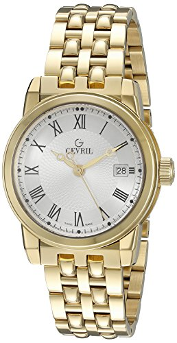 Gevril-Mens-2522-PARK-Analog-Display-Swiss-Quartz-Gold-Watch