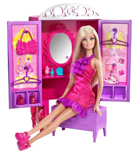Barbie Dress-Up To Make-Up Closet And Barbie Doll Set front-993336