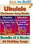 Ukulele Christmas Song Books 1 & 2 -...