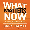What Matters Now: How to Win in a World of Relentless Change, Ferocious Competition, and Unstoppable Innovation (       UNABRIDGED) by Gary Hamel Narrated by Gary Hamel
